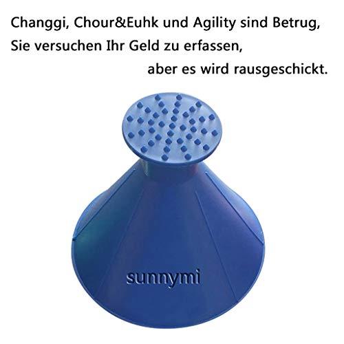 sunnymi Windschild Eiskratzer EIN rundes magisches kegelförmiges Kratzen-Schneeschaufel Werkzeug (Blau, 14.5cm)
