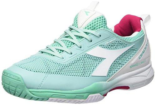 Diadora Damen S.Pro Evo Ii W Sg Tennisschuhe Multicolore (C6018 Verde Cacatua/Bianco)