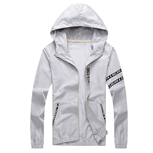 Uomogo uomo super leggero giacca indumenti impermeabili all'aperto con cappuccio quick dry windbreaker uv cmpermeabile proteggere la pelle coat