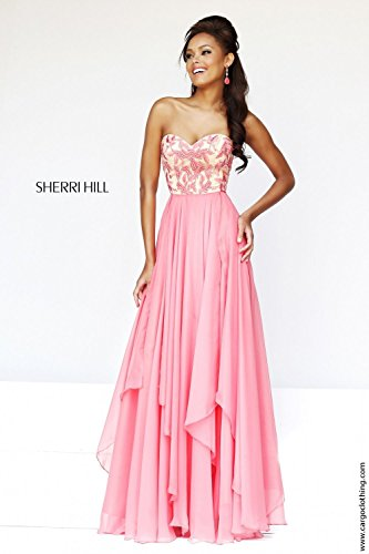 sherri-hill-1924-coral-long-strapless-fitted-gown-uk-14-us-10