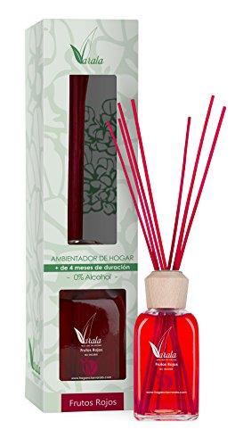 Ambientador Varala Mikado con Esencias Naturales O% Alcohol 220 ml Frutos Rojos