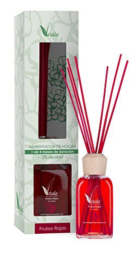Fragancias Varala Diffuseur avec bâtonnets Parfum fruits rouges 220 ml