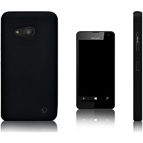 Xcessor Vapour Funda Carcasa de TPU Gel Flexible Para Microsoft Lumia 550. Negro