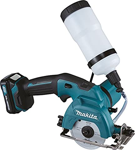 Makita CC301DWAE Glass/Ceramic Tile Cutter with 2x 2.0Ah BATTS And DC10WC Charger - Blue (4-Piece)