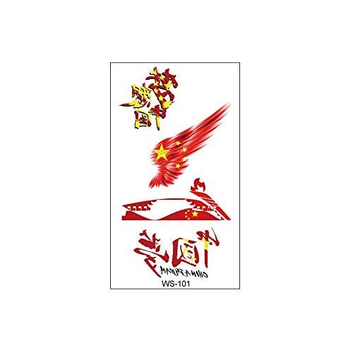 zgmtj Chinesische Flagge Tattoo Aufkleber Marathon Sportfans Gesicht Aufkleber WS-101 60x105mm