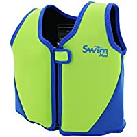 SwimMad Child's Swimming Jacket 18-30Kg 3-6 Years (Green/Blue) - 8 Removable Floats