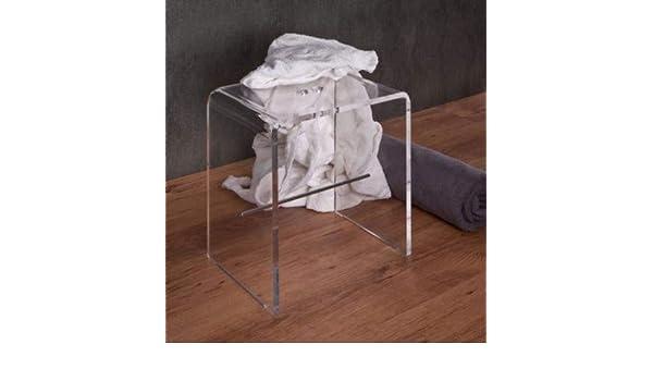 Plexcollection sgabello da bagno in plexiglass: amazon.it: casa e cucina