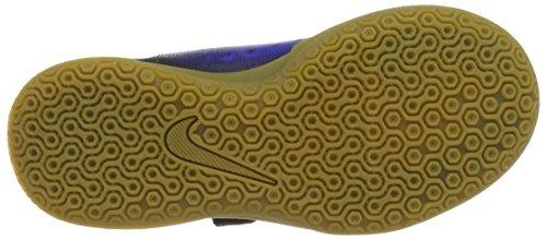 Nike Unisex-Kinder 844451-016 Hallenfußballschuhe Schwarz (Black/White-Paramount Blue-Hyper Orange)