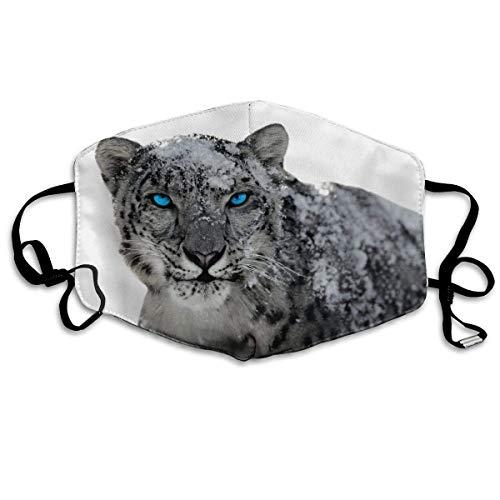 Leopard Halb Maske - Daawqee Mund Maske, Snow Field Leopard