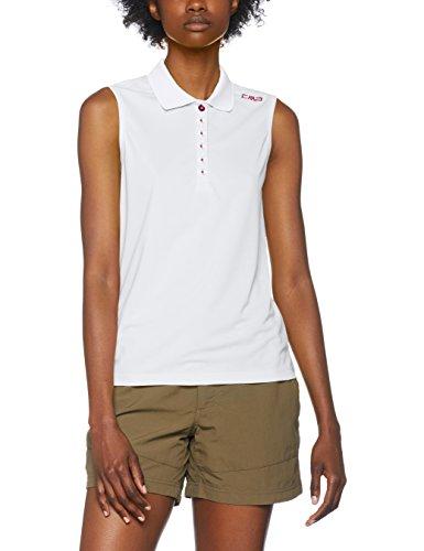 CMP Damen Polo T-Shirt, Bianco-Borgogna, D40