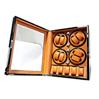 Wooden Automatic Watch Winder 8+5 Storage Boxes 5 Rotation Modes Quiet Motor- For 13 Watches (Color : C)