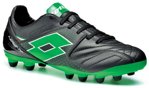 Lotto Sport  FUERZAPURA IV 300 FG, Chaussures de football homme black/ metal neon green