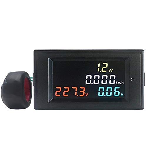 ROUHO 4 In 1 Ac Voltmeter Amperemeter Power Energy Meter Ac 200.0-450.0V 0.01-100A Hd Farbbildschirm 180 Grad Led -