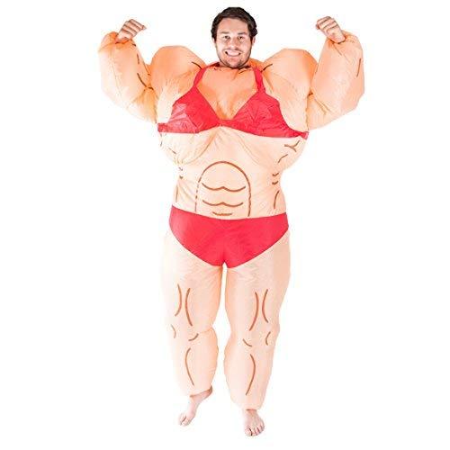 Bambini gonfiabile CULTURISTA muscoli Uomo Costume Halloween