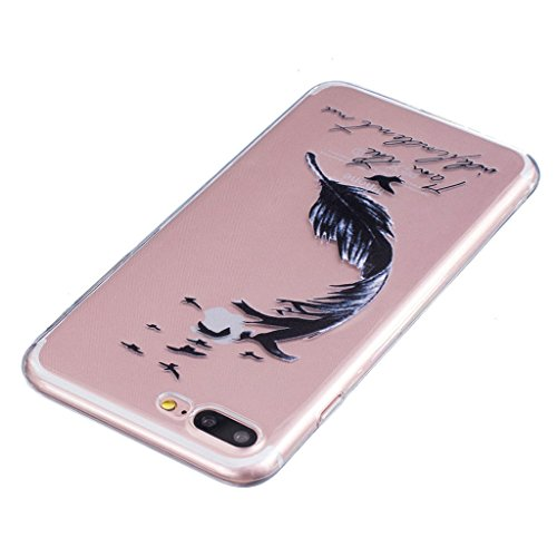 "iPhone 7 Plus Coque - MYTHOLLOGY Antichoc Housse Transparent Silicone Souple Slim Coque Pour iPhone 7 Plus (5.5"") - LSBH HSYM"