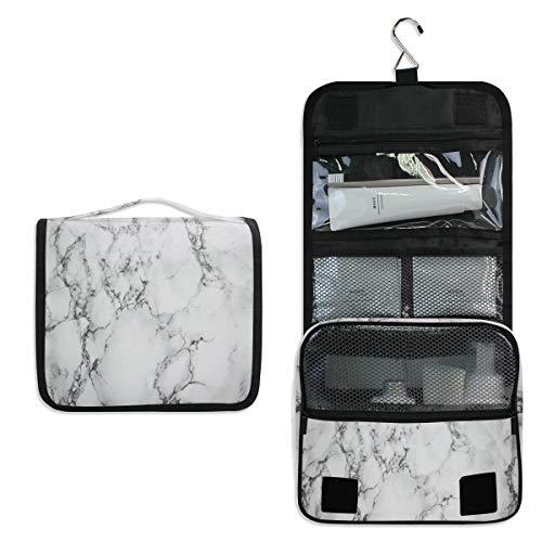 BIGJOKE Kulturtasche zum Aufhängen, geometrische Marmorstruktur, tragbare Kosmetiktasche, Make-up-Tasche, Wäschekorgel, wasserdicht, mit Haken für Damen und Herren für Kosmetik und Toilettenzubehör - Dye Tasche