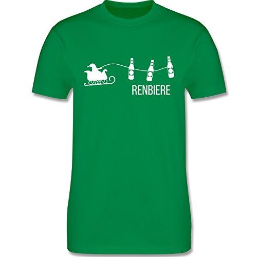 Typisch Männer - Renbiere - Herren Premium T-Shirt Grün