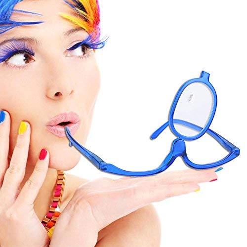 Make-Up Schminkbrille mit klappbaren Brillenglas(Blau 200)