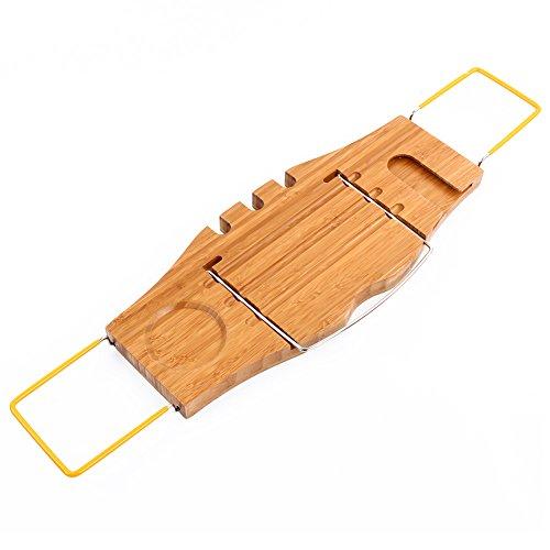 Yosoo BM-WY02 Bambus Badewanne-Regal Skalierbare Badewannenbrett & Super Angebot