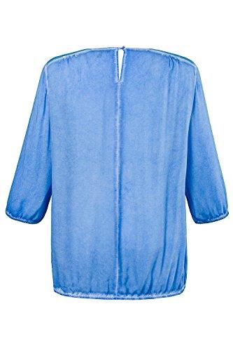 Ulla Popken Femme Grandes tailles Blouse 703390 bleu ciel