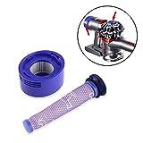Volwco 965661 967478 Lot de filtres de Rechange pour aspirateurs Dyson V7, V8 Absolute et Animal sans Fil, 2Pack