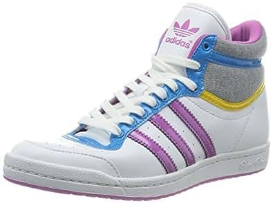 adidas Originals Top Ten Hi Sleek W D65217, Damen Sneaker, Weiß (RUNNING WHITE FTW/JOY ORCHID S13/TRIBE YELLOW S14), EU 36