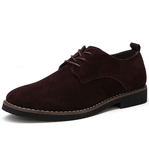 XI-GUA Herren Casual Business Schuhe Leder Lace Up atmungsaktive weiche Leder Herbst Arbeitsschuhe J Renee Low Heel Heels