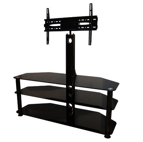 MountRight Support pour TV 42 jusqu'à 139,7 cm LED, LCD et Plasma (Noir Pieds et Noir Droit)