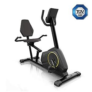 KLAR FIT Epsylon Relax Cycle • Cyclette • Trasmissione a Cinghia con Sistema SilentBelt • Volano da 12 kg • Resistenza HiLevel a 24 Livelli • Funzione MagResist • Supporto Tablet • Testato TÜV • Nero