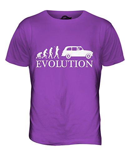 CandyMix Taxi Londoner Black Cab Evolution Des Menschen Herren T Shirt Violett