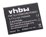 vhbw Li-Ion Akku 1100mAh (3.7V) für Handy Smartphone Telefon Alcatel One Touch Pop C3 Dual OT-4033A, Rire C OT-4019A Wie CAB31P0000C1, BY71.