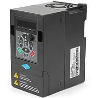 Frecuencia variable, 220V 1.5KW Inversor de frecuencia 1 entrada Salida trifásica VFD universal Inversor convertidor de frecuencia variable Convertidor adecuado para motores mezcladores