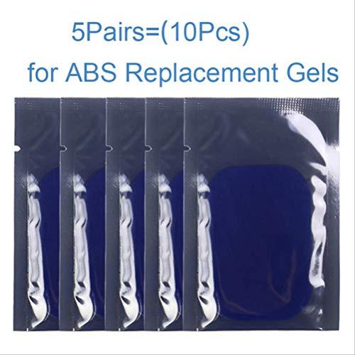 RTGFS Bauchtrainer EMS Muskelstimulator Smart Fitness Hüften absmuskeltoner Körpermassagegerät SlimmerbeltUnisex5 Beutel Kleber (10 Stücke)