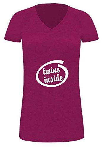 Lady T-Shirt für Schwangere Twins inside