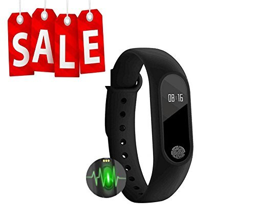 Xiaomi Redmi Note 2 Compatible Smart Bracelet / Fitband with Heart Rate Monitor OLED Display Bluetooth 4.0 Waterproof Sports Health Activity Fitness Tracker Bluetooth Wristband Pedometer Sleep Monitor Waterproof Smart Bracelet Support Pedometer / Sleep Monitoring / Call Reminder / Clock / Remote camera / Anti-lost Function/OLED Display (Black) by SYL