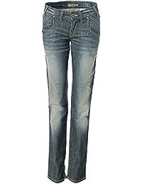 Laura scott pantalon slim en jeans slim leg l34 34 vintage bleu