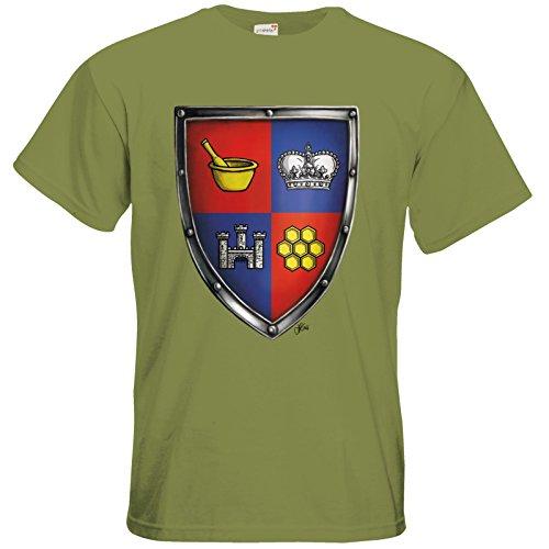 getshirts - Das Schwarze Auge - T-Shirt - Die Siebenwindküste - Wappen - Honingen Green Moss