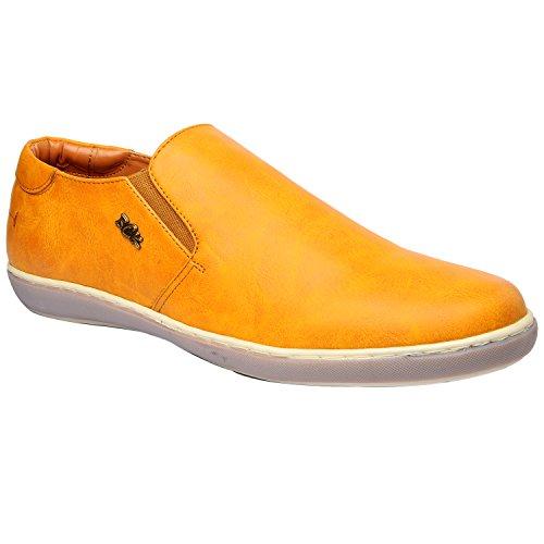 Buckaroo Men's Morgan Tan Leather Loafers And Mocassins