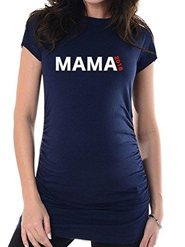 bellytime Navy Mama 2018, 44, Umstands T-Shirt/Schwangerschafts T-Shir