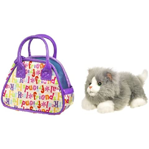 Fur Real Friends Teacup Pups - Kitty Grey and White by Hasbro - Kitty Teacup
