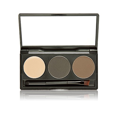 Imported 3 Colors Makeup Palette Eyebrow Powder Mascara Concealer Palette+Brush - 05#