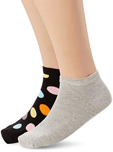 Preisvergleich Produktbild Happy Socks Herren Socken 2-Pack Big Dot Low,  2er (Schwarz 9000),  One Size (Herstellergröße: 41-46)