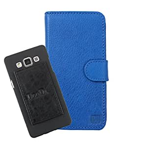 DooDa Genuine Leather Wallet Flip Case Cover With Card & ID Slots For iBall Andi 5.5 N2 Quadro - Back Cover Not Included Peel And Paste