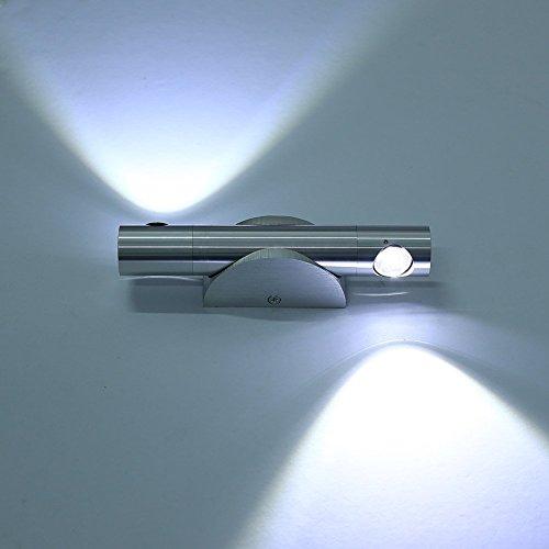 Lightsjoy Apliques Pared Moderna Aluminio 6W 2 Granos