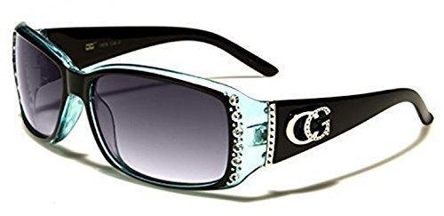 Femmes C.G Mode Style Célébrité Lunettes de soleil avec Pierre Diamante Modèle Offre Complète UVA / Protection UVB Disponible en 6 Couleurs Wy3Fx