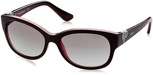 Vogue Eyewear Damen 0VO5034SB 237711 56 Sonnenbrille, Rot (Top Dark Opal Red/Greygradient)