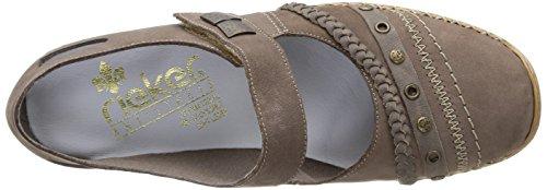 Rieker - 41370/42, Scarpe stringate Donna Grigio (grigio)