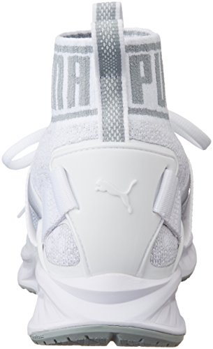 Puma Ignite Evoknit, Chaussures de Running Compétition Mixte Adulte Blanc (Puma White-quarry-vaporous Gray 03)