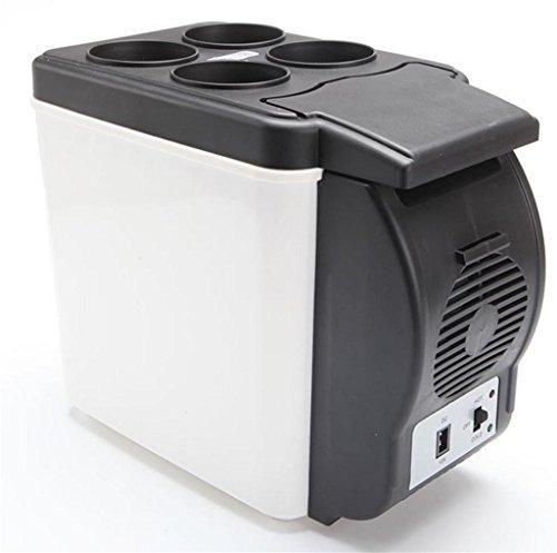 Preisvergleich Produktbild Auto Kühlschrank, autoinbox 12V Camping Tragbare Reise Kühlschrank 6L Liter Kühler wärmer Heizung Multifunktions Elektrische Kühlbox Mini Kühlschrank Kühlbox (weiß und schwarz)
