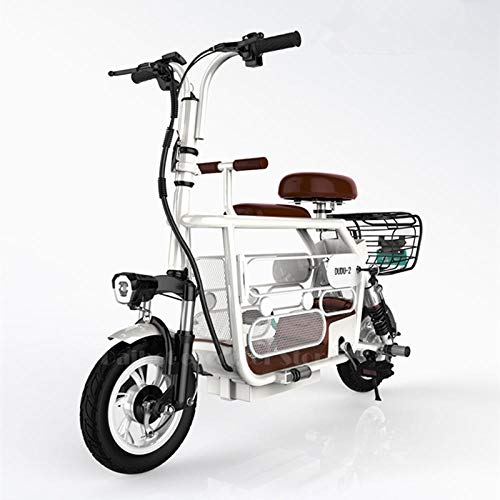 """Hold E-Bikes Klappbares Smart Fahrrad 12\""""400W 48V E Power Assist Fahrradpedale Schnellladung, Radgeschwindigkeit 35km / h@Weiß"""